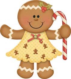 Christmas gingerbread girl clip art