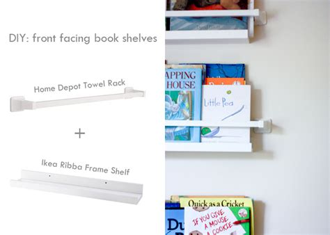 home away from home diy front facing book shelves one