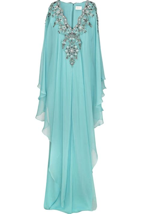 kaftan sartika dress pesta p marchesa silk chiffon embroidered kaftan net a porter
