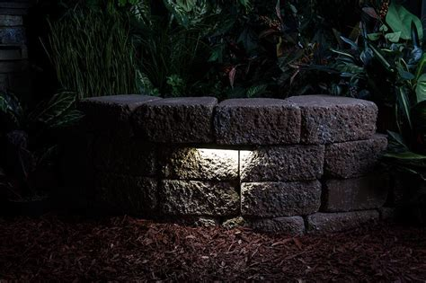 Landscape Wall Lighting Led Hardscape Light 6 Quot Landscape Retaining Wall Light With Mortar Mounting Plate Led