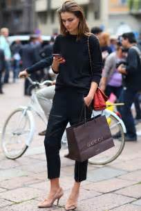 Street with Straight Black Pants Outfit
