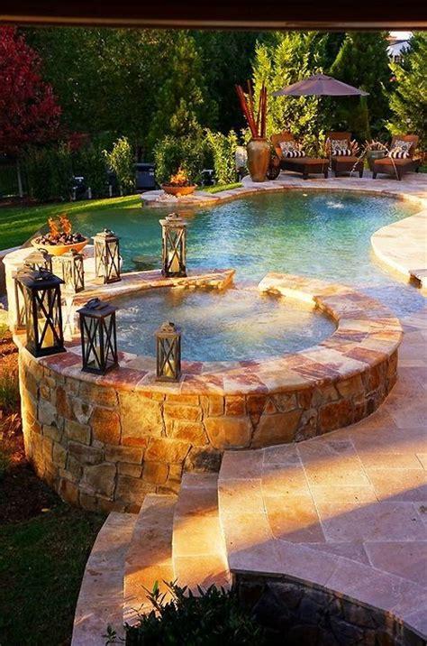 beautiful backyard pool tub jardines encantadores