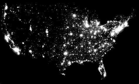 map usa lights the green tips on greening your world