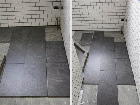 12x24 tile layout what s the best tile layout for my bathroom or