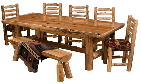 Log Dining Room Furniture Cedar Log Dining Table Pcdt01 Cedar Log Dining Room Furniture The Log Furniture Store