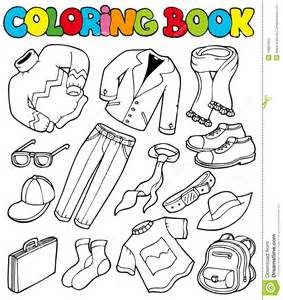 coloring book images coloring book with apparel 1 stock photos image 16682463