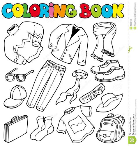 80 years of color books coloring book with apparel 1 stock vector image 16682463