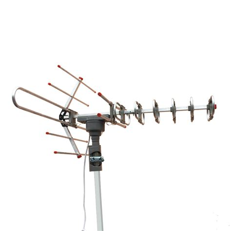 outdoor lified antenna digital hd tv 150 mile 360 rotor