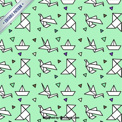 Origami Pattern - origami pattern vector free