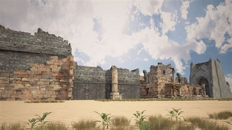 description of the ruins of an ancient city discovered near palenque in the kingdom of guatemala in america translated from the original teatro critico americano or a critical inve books 3d model a 3d model of the ruins of the ancient holy city
