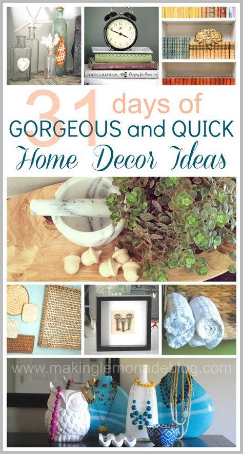 31 easy decorating ideas wrapup and link