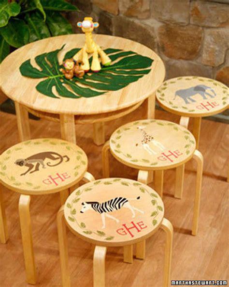 Martha Stewart Handmade Gifts - stenciled stool tops martha stewart