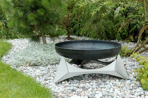 feuerschale mit grillaufsatz design feuerschale arka edelstahl metall feuerstelle