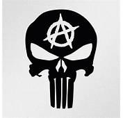 Punisher Skull Anarchy Symbol Car Body Window Bumper Vinyl