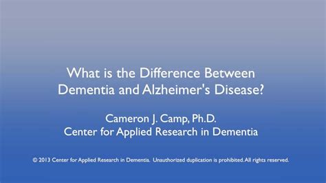 difference  alzheimers disease  dementia youtube
