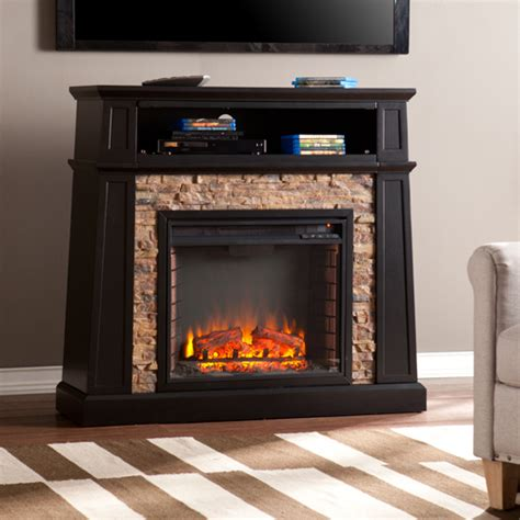 marble electric fireplaces 44 25 quot crestwick faux electric media fireplace