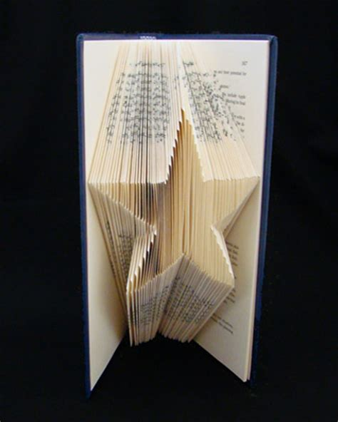 Origami Book Fold - book sculptures make origami