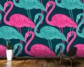 flamingo wallpaper kitchen flamingo doodle wallpaper wall mural wallsauce