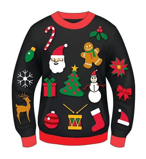 printable ugly christmas sweater ugly christmas sweater party clipart clipartxtras