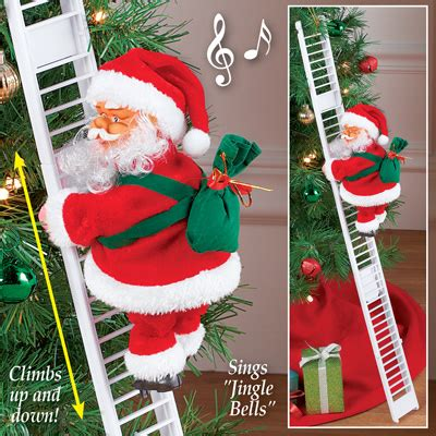 climbing santa ladder christmas decoration santa climbing ladder decoration from collections etc