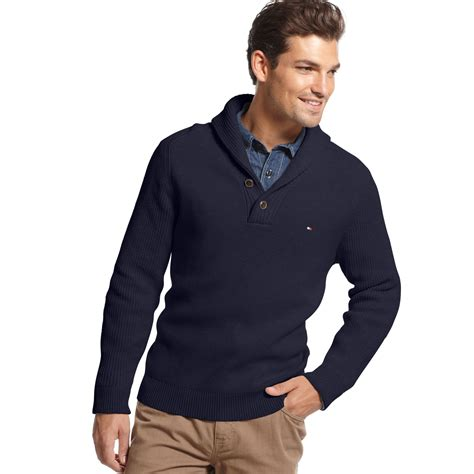 Sweater Hilfiger Hilfiger Adler Shawl Collar Sweater In Black For