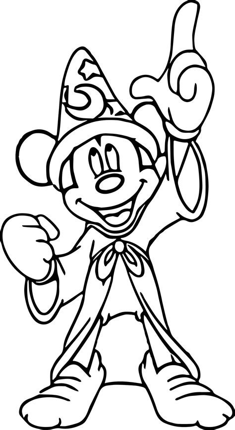 mickey coloring pages mickey fantasia coloring pages wecoloringpage