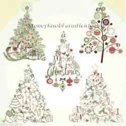 Christmas Crafts With Yarn - christmas tree collection counted cross stitch pattern ebay