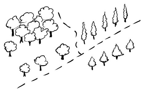 draw map how to draw simple trees on a map fantastic maps