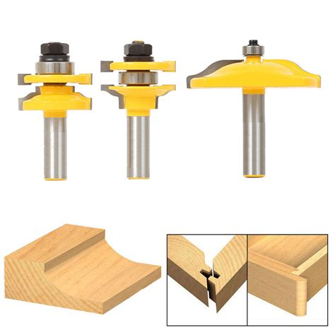 Router Cabinet Doors Bit Raised Panel Cabinet Door Router Bit Set 1 2 Quot Shank Home Woodworking Tools Ebay