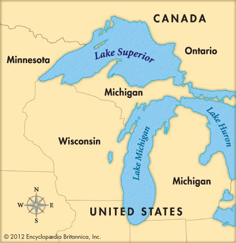 world map lake superior lake superior britannica homework help