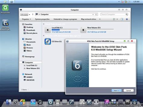 windows 8 theme for iphone ios 6 ios 6 theme for windows 8 makes your pc look like iphone