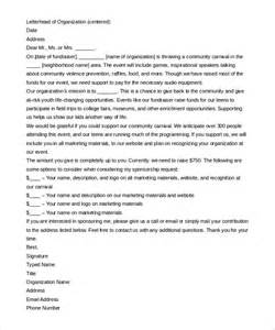 sponsorship letter template 8 free word pdf documents