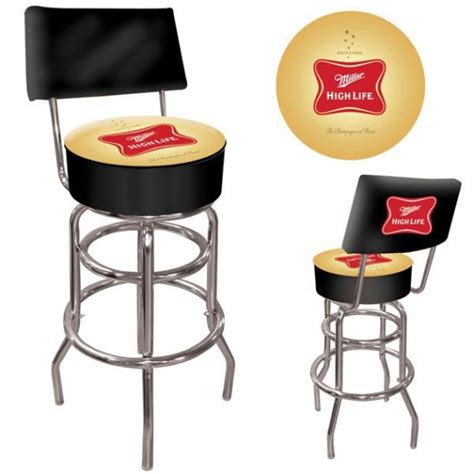 Padded Stool With Back by Miller High Padded Bar Stool With Back