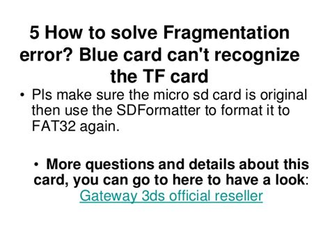 format fat32 error gateway 3ds faq and how to solve