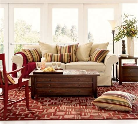 charleston sofa pottery barn cozy den