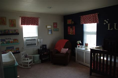 Coral And Navy Nursery by Modern And Cozy Coral Navy And Aqua Nursery Project Nursery
