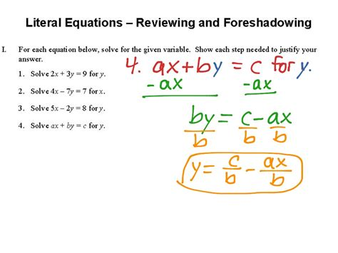Literal Equations And Formulas Worksheet by Literal Equations Worksheet Worksheets