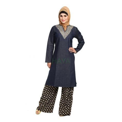 Tunic Blouse Muslim Colour Kode758186 7 Best Images About Muslim Tunics In Denim On