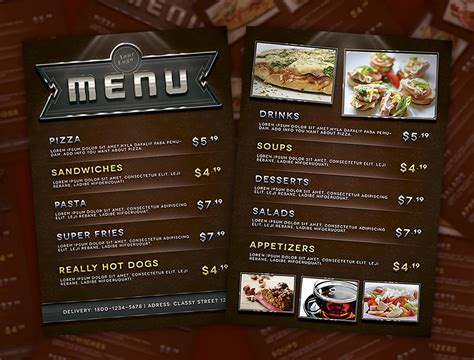 make a menu template menu flyer template this psd file is easy to
