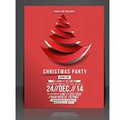 Free Creative Christmas Party Club Poster / Flyer Template