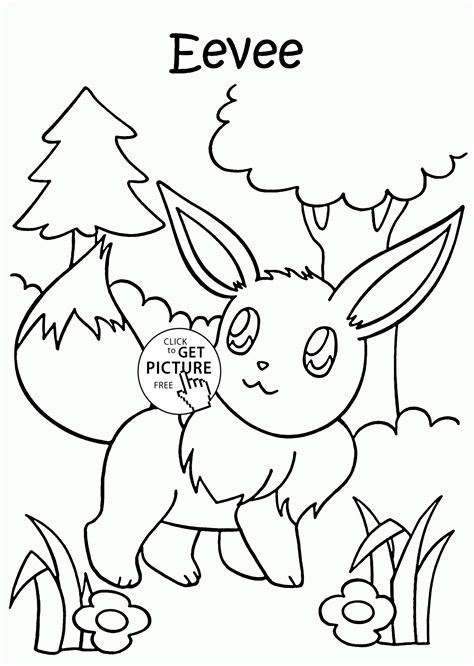 Pokemon eevee coloring pages for kids characters printables fr
