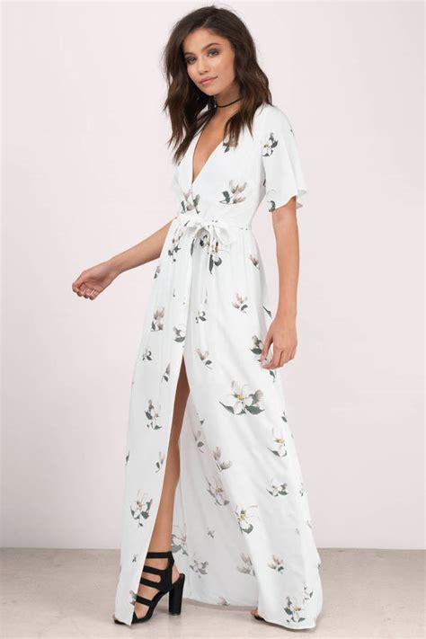 White Black Maxi maxi dresses dresses floral black