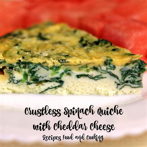 Crustless Quiche With Cottage Cheese by Crustless Spinach Quiche With Cheddar Cheese