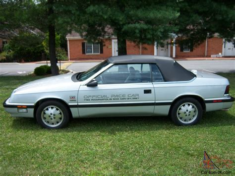 87 Chrysler Lebaron 87 chrysler lebaron indy 500 pace car replica