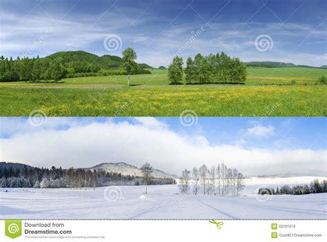 imagenes de invierno y verano invierno y verano foto de archivo imagen 53101014