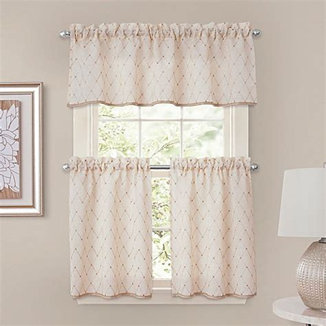 tier curtains bathroom crystal brook window curtain tier pairs and valance in