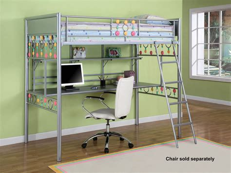 full bunk bed with desk full loft bed with desk ikea