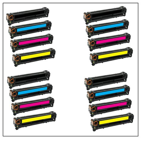 Toner Hp 126a Yellow by Hp Compatible 126a Set Black Cyan Yellow Magenta Ce310a