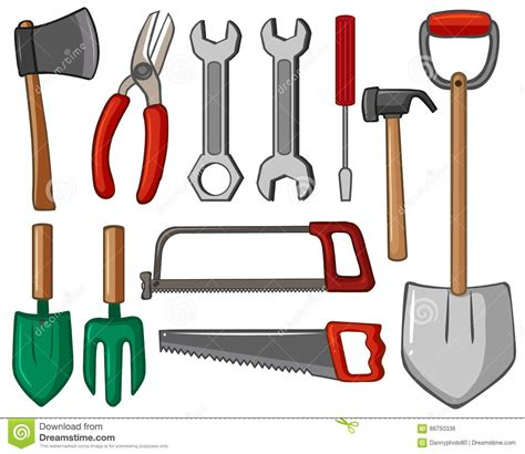 type of tools different types of tools stock vector image 88750336