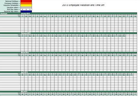 time tracking sheet template vacation time tracking template vacation time tracking